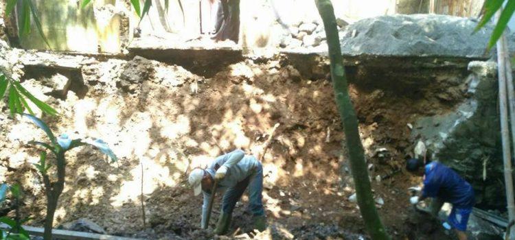 Kegiatan Assesment Tim TRC BPBD Kabupaten Bogor, di lokasi kejadian Tanah Longsor