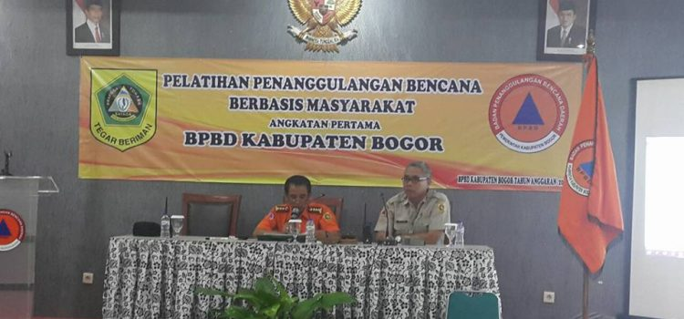 Pelatihan Penanggulangan Bencana Berbasis Masyarakat Kabupaten Bogor