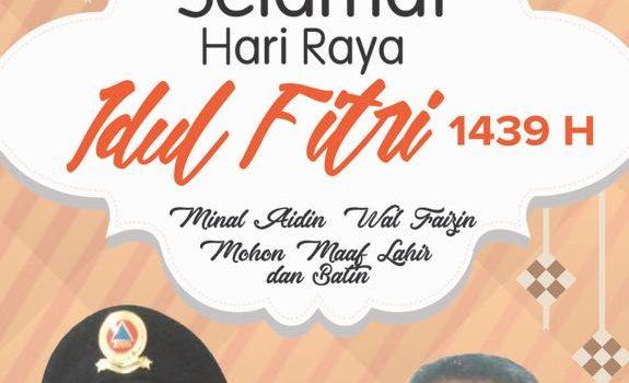 Segenap Keluarga Besar BPBD Mengucapkan Selamat Hari Raya Idul Fitri 1439 H Minal Aidin Wal Faidzin Mohon Maaf Lahir & Batin