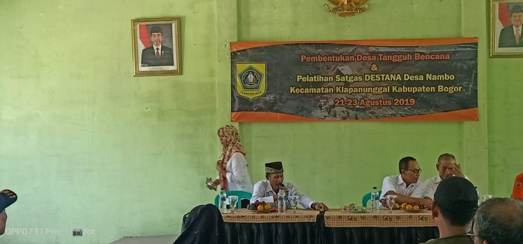 Pembentukan DESTANA (Desa Tangguh Bencana) di Kecamatan Klapanunggal