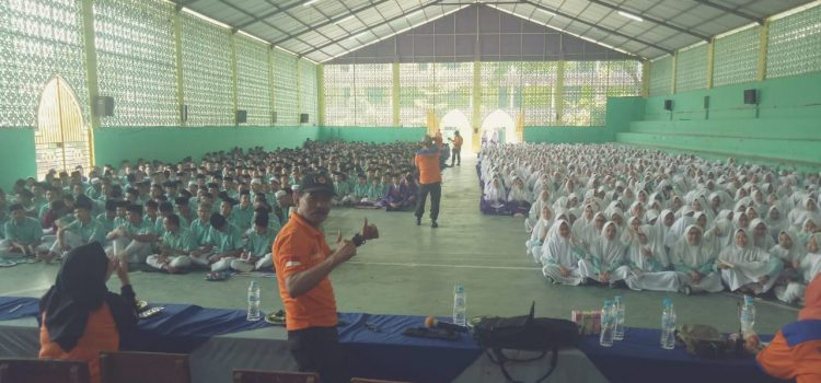 Sekolah aman bencana di Ponpes modern Darul Ulum Lido,  Desa Ciburuy, Kecamatan Cigombong