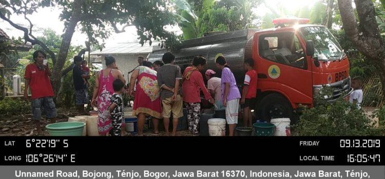 Pendistribusian Air Bersih 2 Lokasi di Kecamatan 13 september 2019