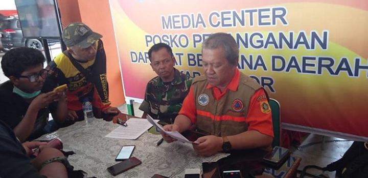 Berkurangnya Pengungsi dilokasi Bencana di Kabupaten Bogor