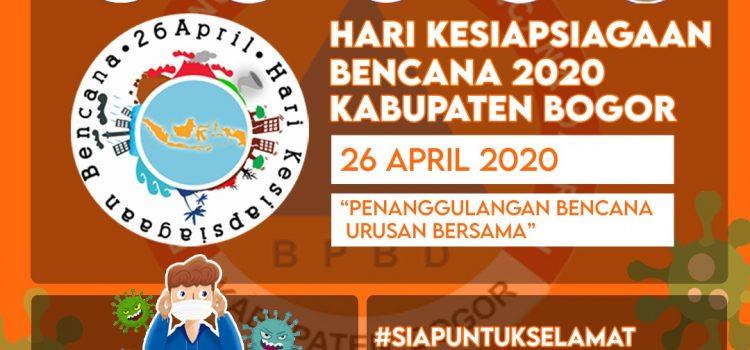 Infografis Hari Kesiapsiagaan Bencana 2020 Kabupaten Bogor