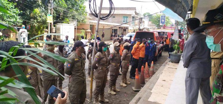 BPBD mengikuti PA M PSBB Gabungan di Kecamatan Gunung Putri Kabupaten Bogor