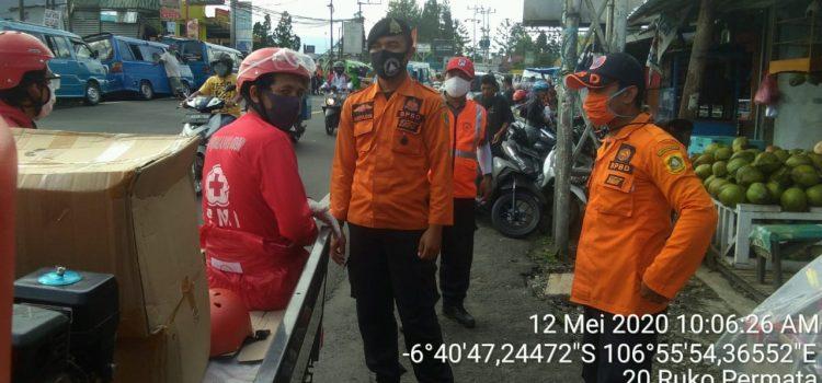 BPBD Mengikuti Kegiatan PAM PSBB di Kecamatan Cisarua Kabupaten Bogor