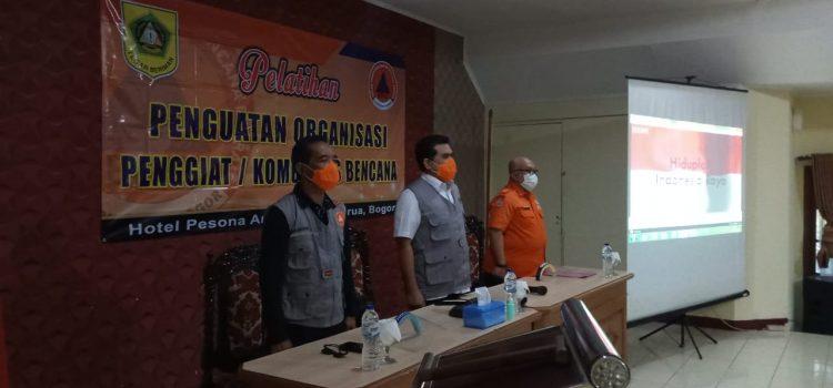 Pelatihan Penguatan Komunitas Penggiat Bencana Se-Kabupaten Bogor