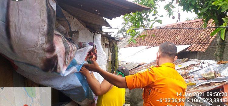 BPBD Kabupaten Bogor Siaga Angin Kencang di Kecamatan Babakan Madang