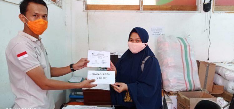 BPBD Kabupaten Bogor telah menerima bantuan uang tunai dari Khadijah Jum'at Berkah