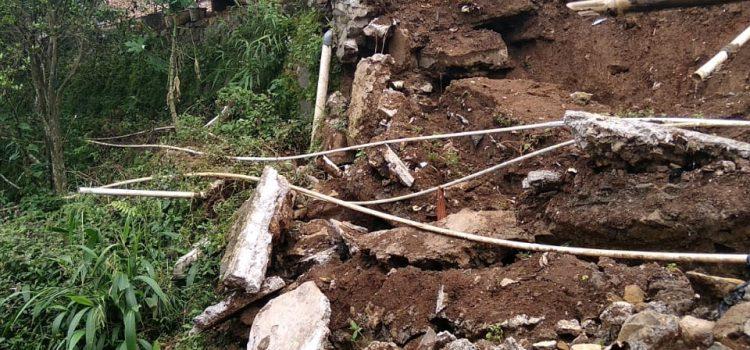 Pergeseran Tanah hingga Tanah Longsor Desa Sukawangi Kecamatan Sukamakmur