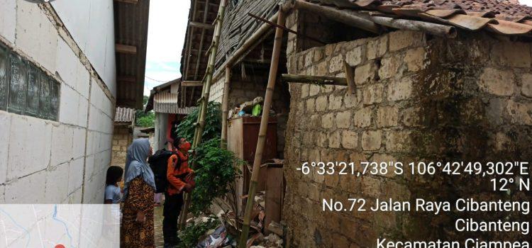 BPBD Kabupaten Bogor Siaga Angin Kencang desa Cibanteng Kecamatan ciampea