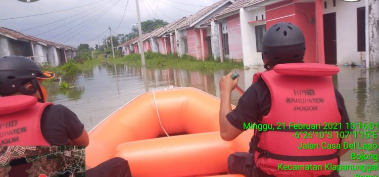 Kali Cibarengkok Meluap, Satu Perumahan di Cileungsi Terendam Banjir