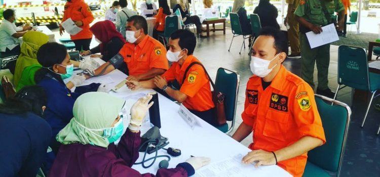 BPBD Kabupaten Bogor Laksanakan Vaksin ke 1 di Gedung Tegar Beriman